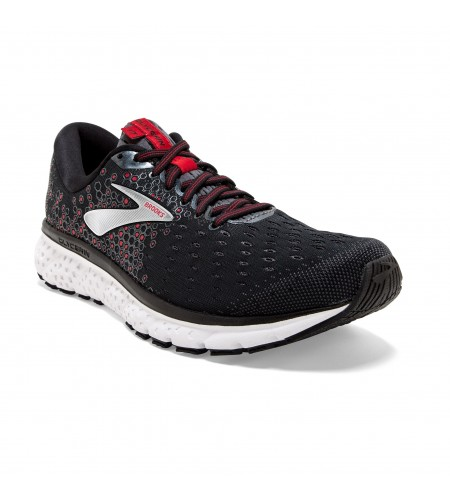 Zapatilla Brooks Glycerin 17 Black/Ebony/Red